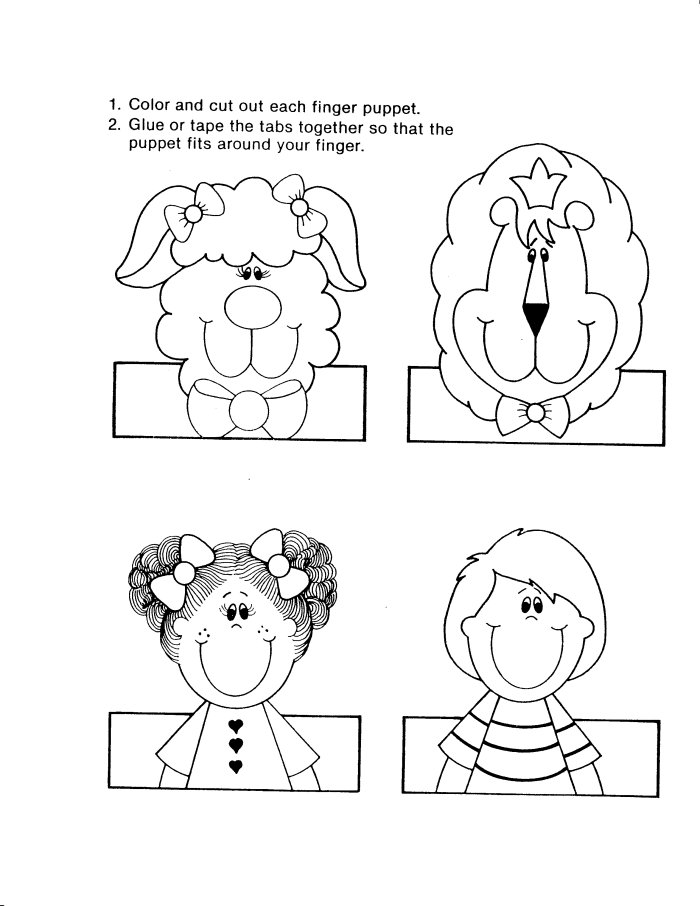 5 Images of Printable Finger Puppet Templates