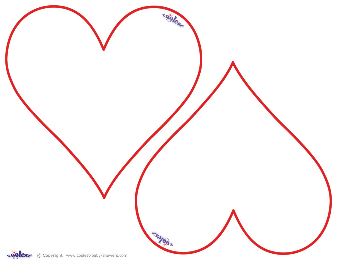 4 Images of Printable Heart Shapes