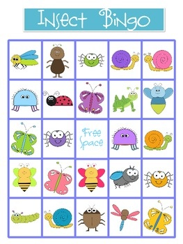 how to play insect bingo