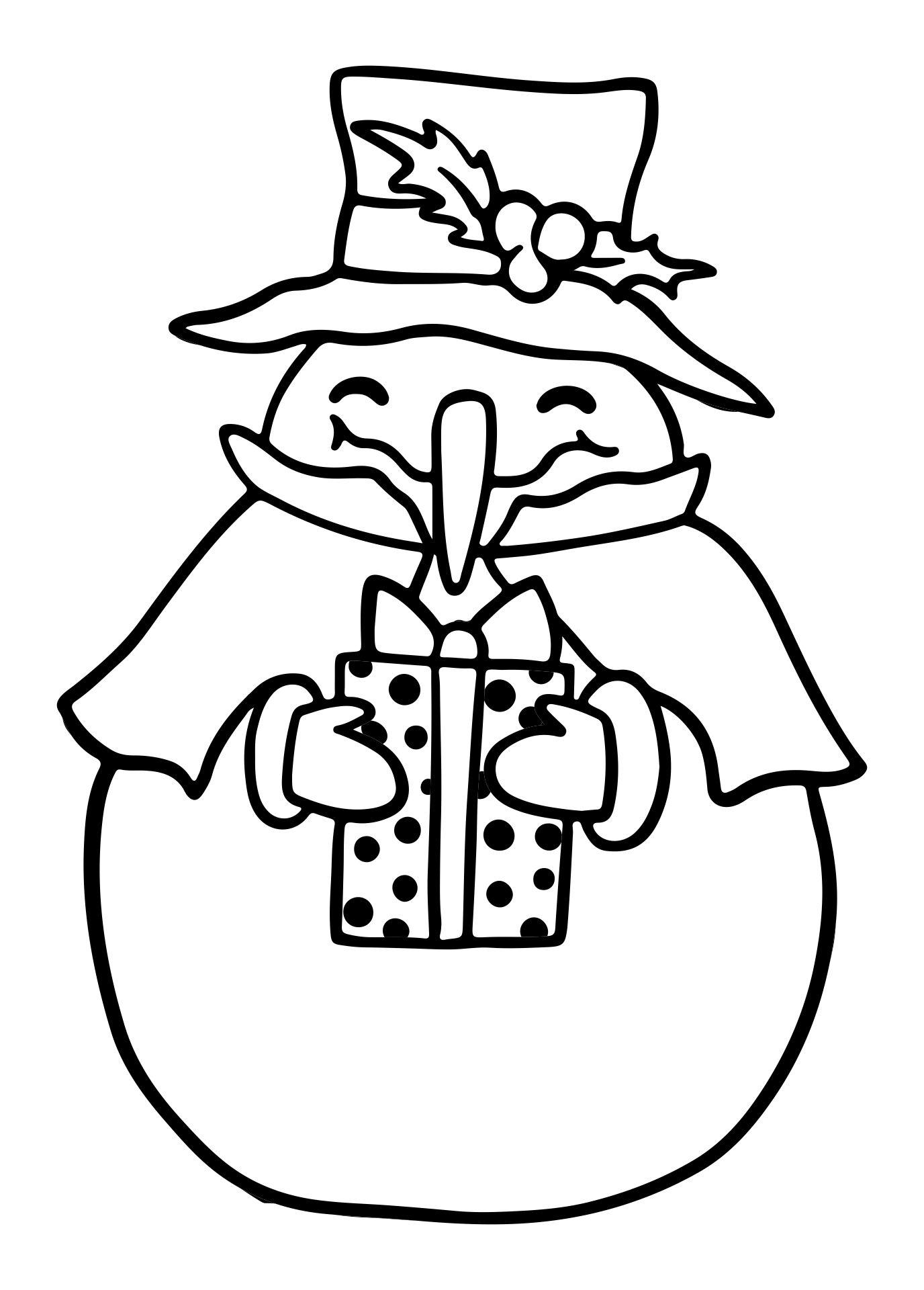 5 Images of Printable Christmas Snowman
