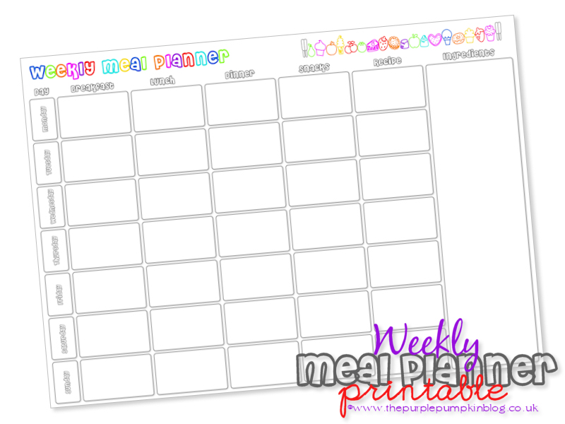 6 Best Images of Free Printable Meal Planner With Snacks ...