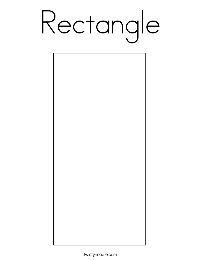 4 Images of Rectangle Coloring Pages Printable