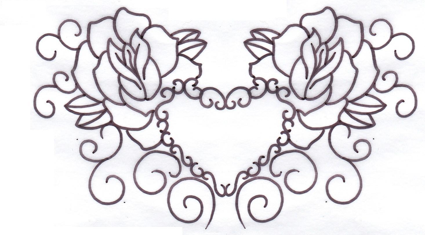 Rose Stencils Free Printable Tattoo Designs