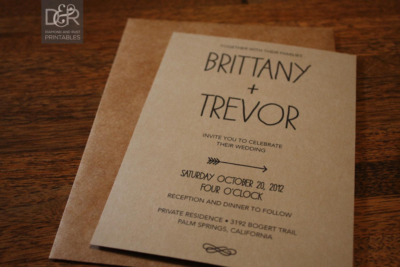 Rustic Wedding Invitation Templates Free