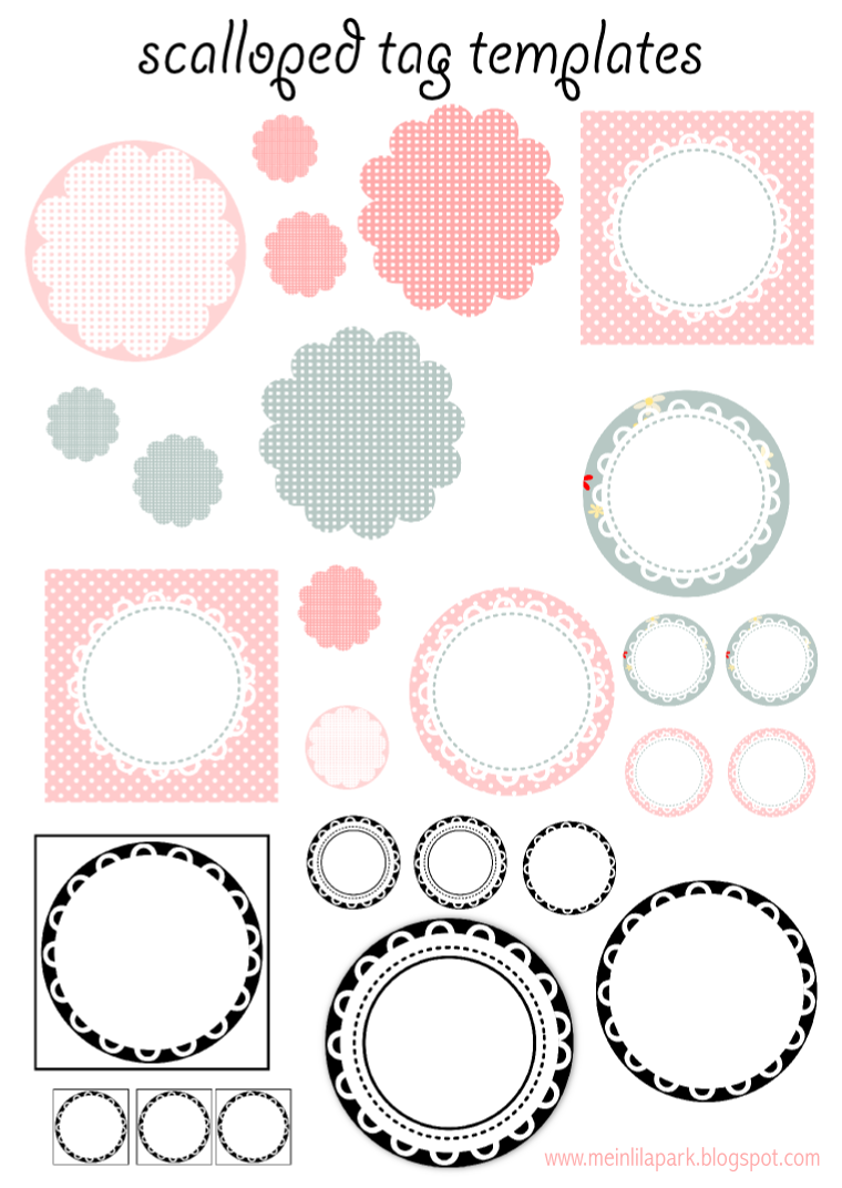 6 Images of Free Printable Circle Tag Templates