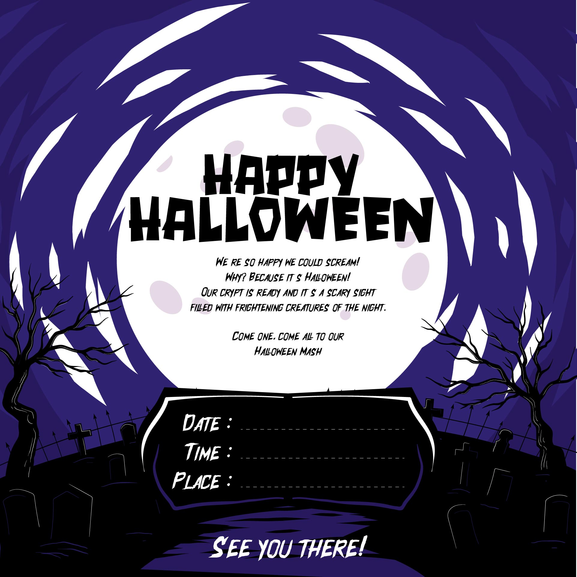 Halloween Invitation Rhymes is luxury invitation template