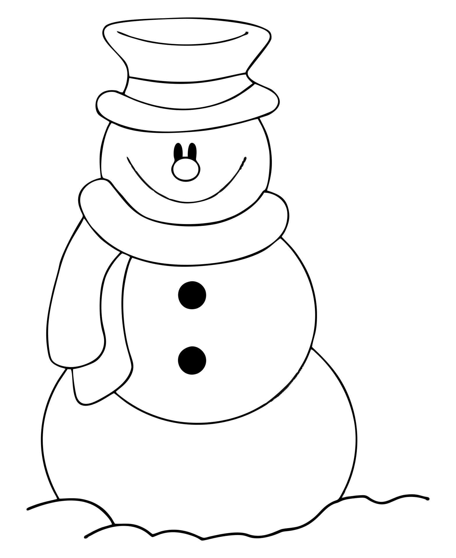 Snowman Clip Art Coloring Pages
