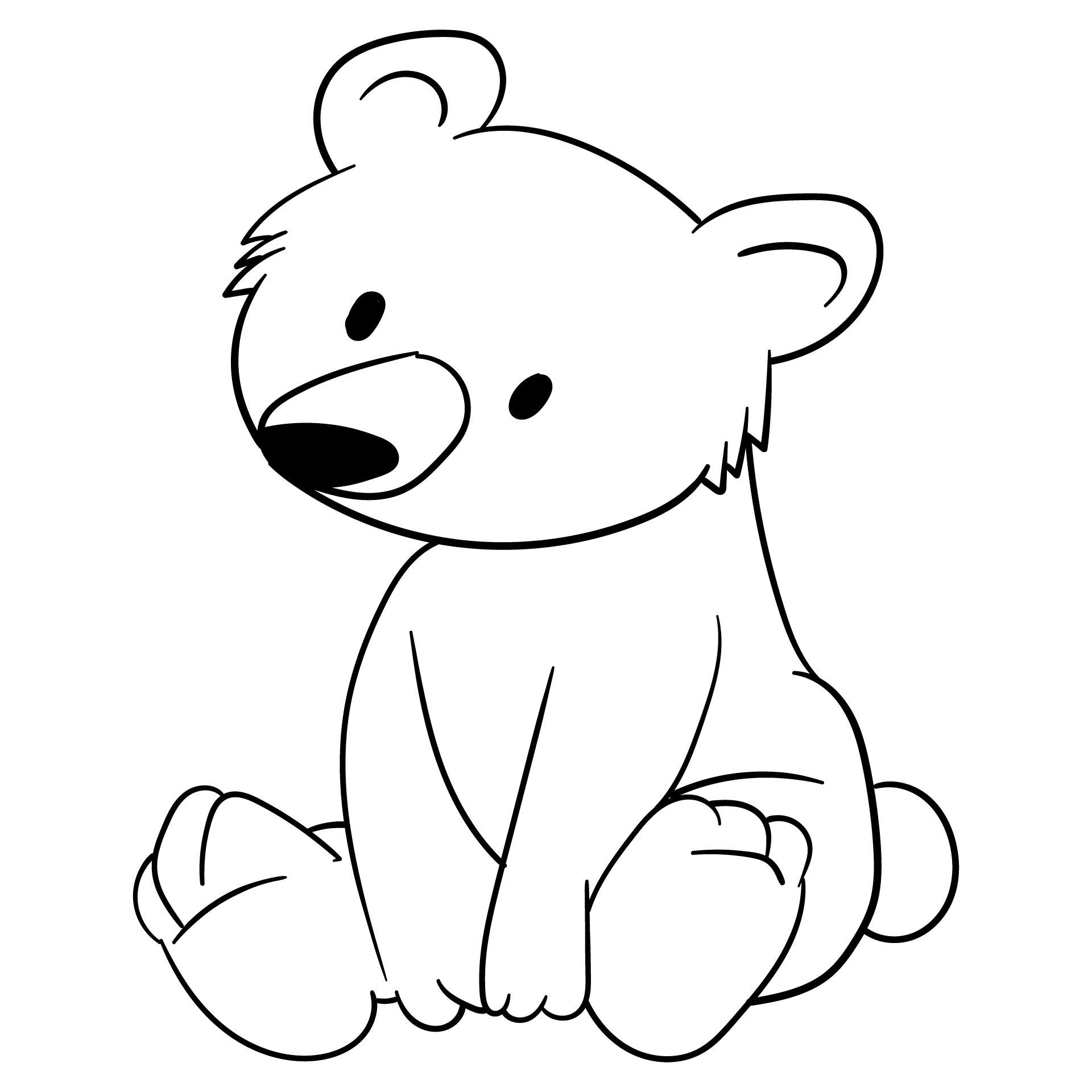 5 Best Images of Teddy Bear Template Printable - Teddy ...