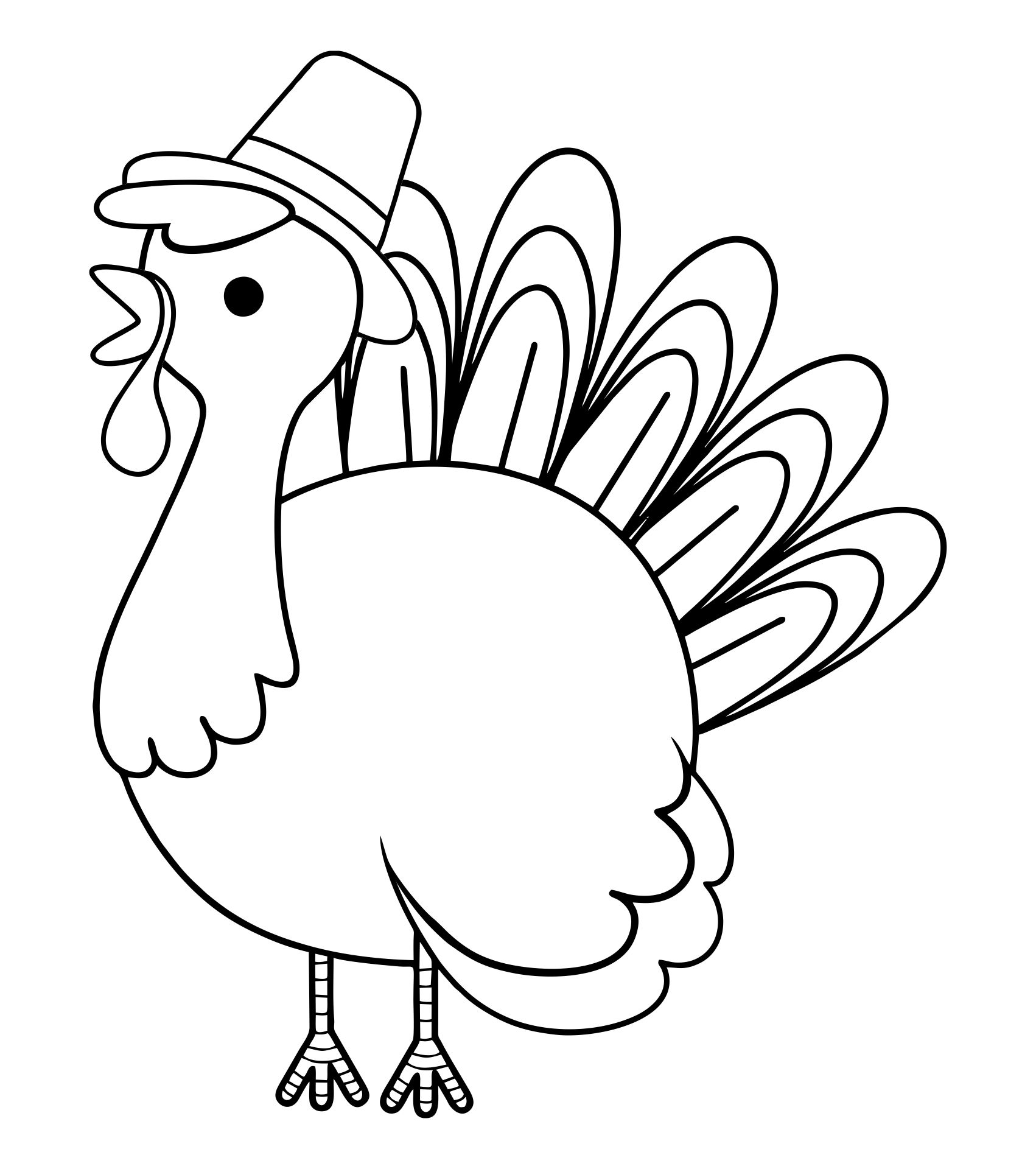 Thanksgiving Turkey Coloring Pages Printables