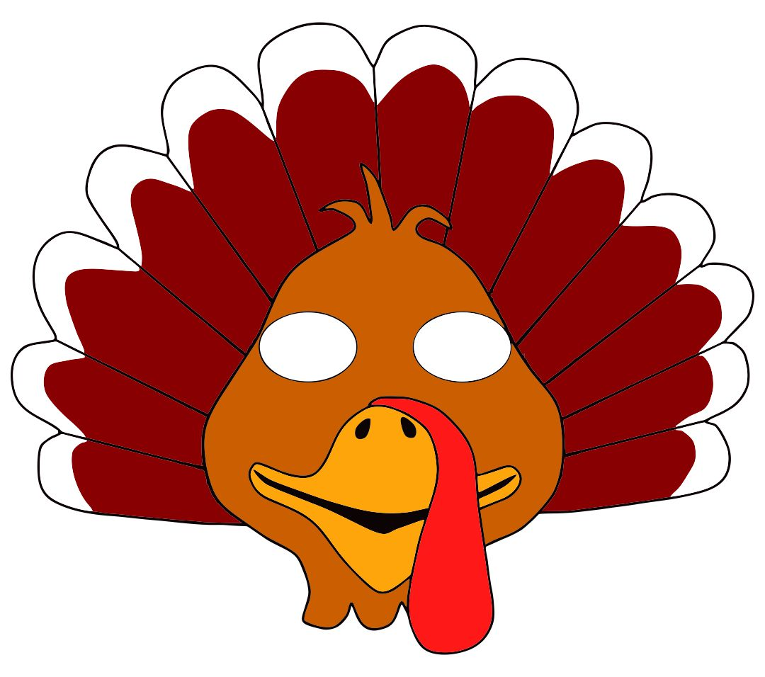 Thanksgiving Turkey Mask Printable
