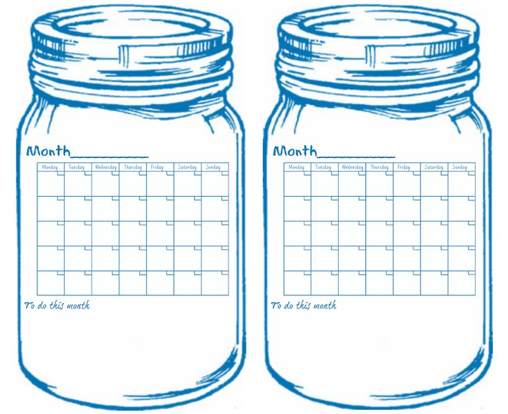 Universal Calendar Printable