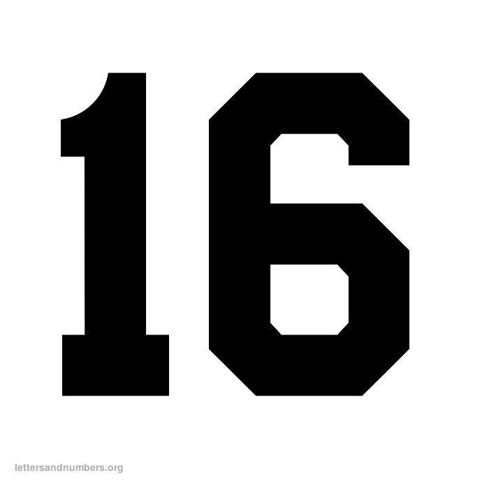 4 Best Images of Printable Number 16 - Printable Number 1 ...