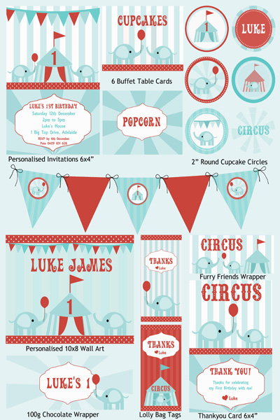 6 Images of Vintage Circus Party Printables Free