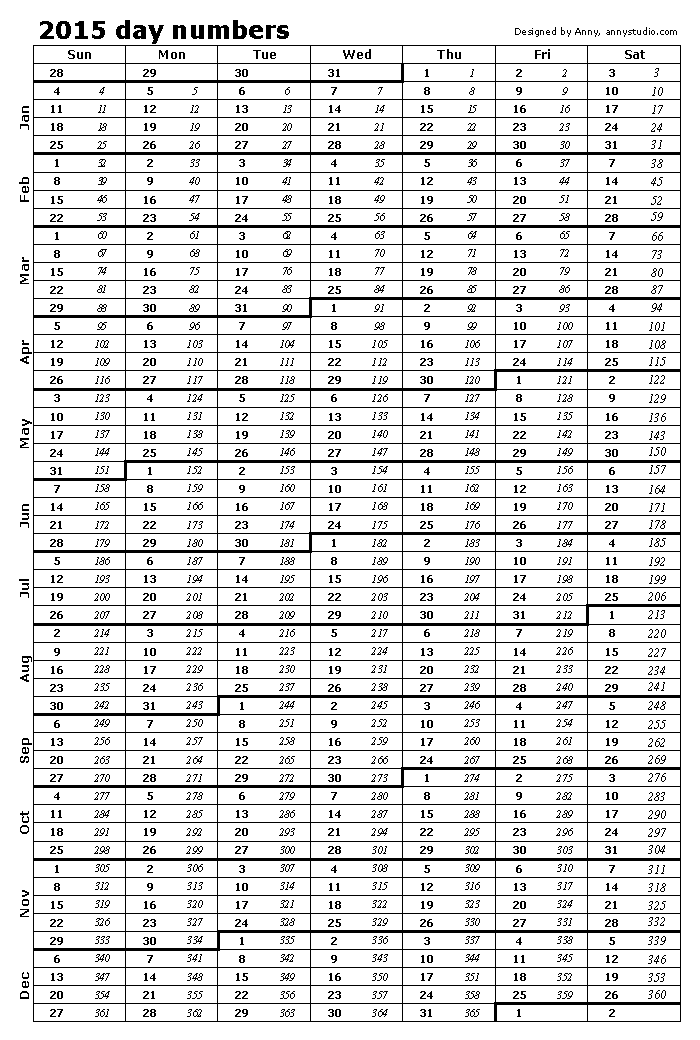 6 Images of Printable 2016 Calendar With Day Numbers