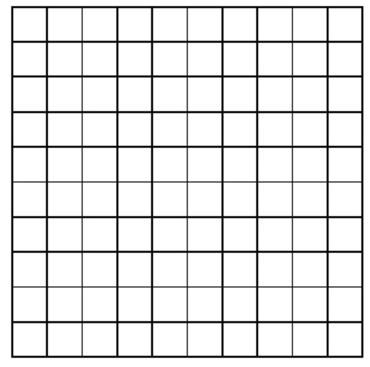 100 Number Chart - Printable Blank 100 Hundreds Chart, 100 Blank Chart ...