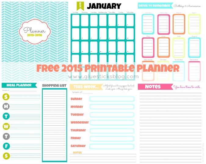 5 Images of Free Printable Planner 2015