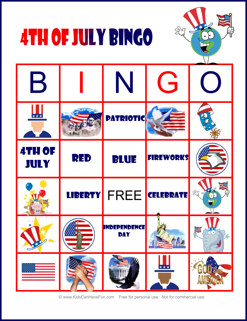 7 Images of 4th Of July Printable Games