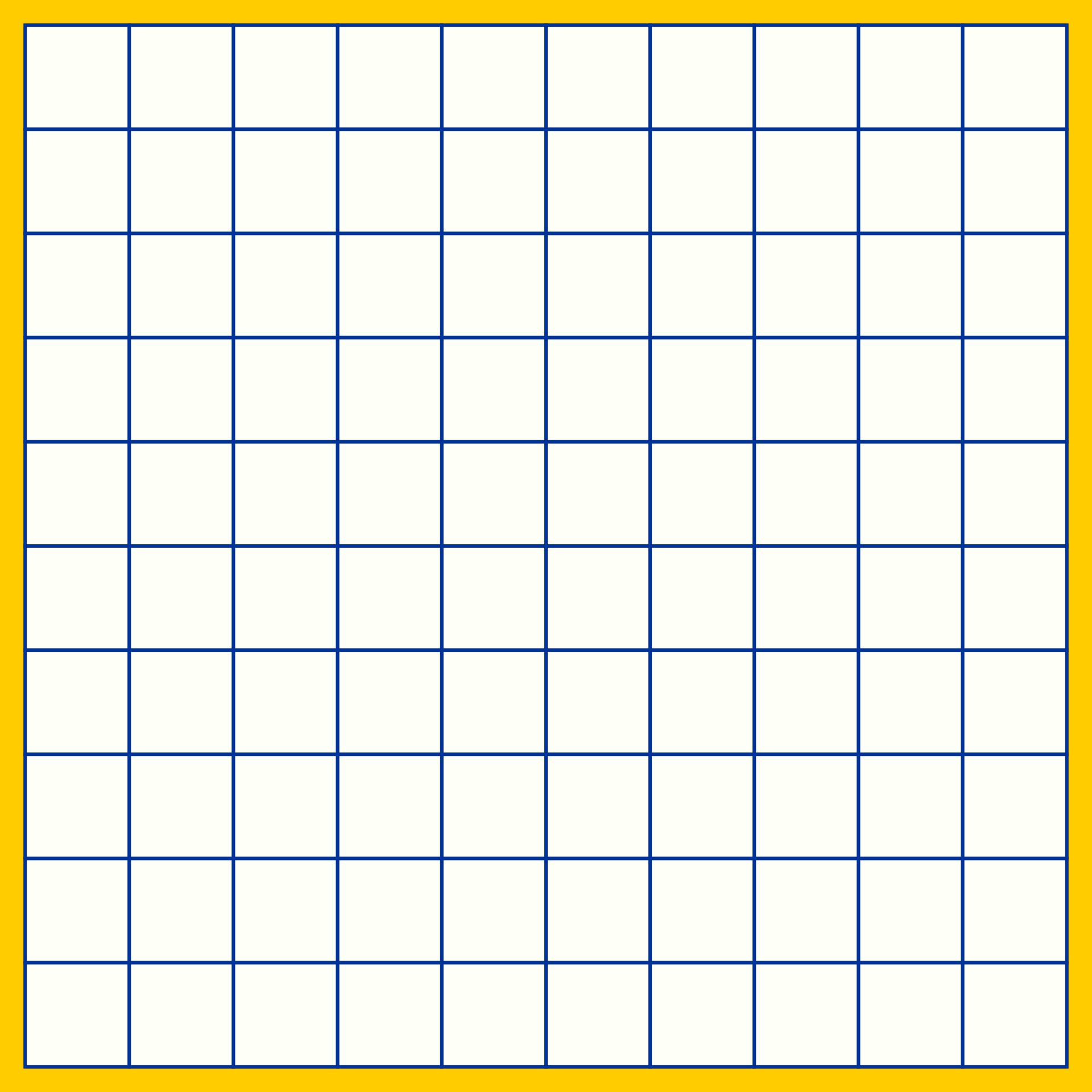 4 Images of 10 By 10 Grids Printable