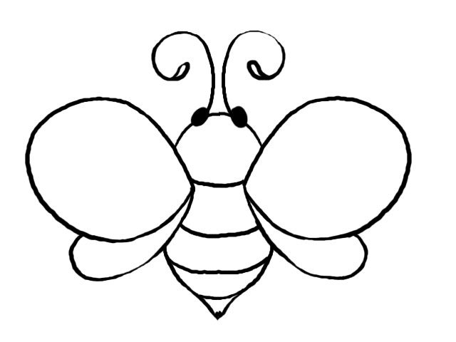 5 Images of Bee Template Printable
