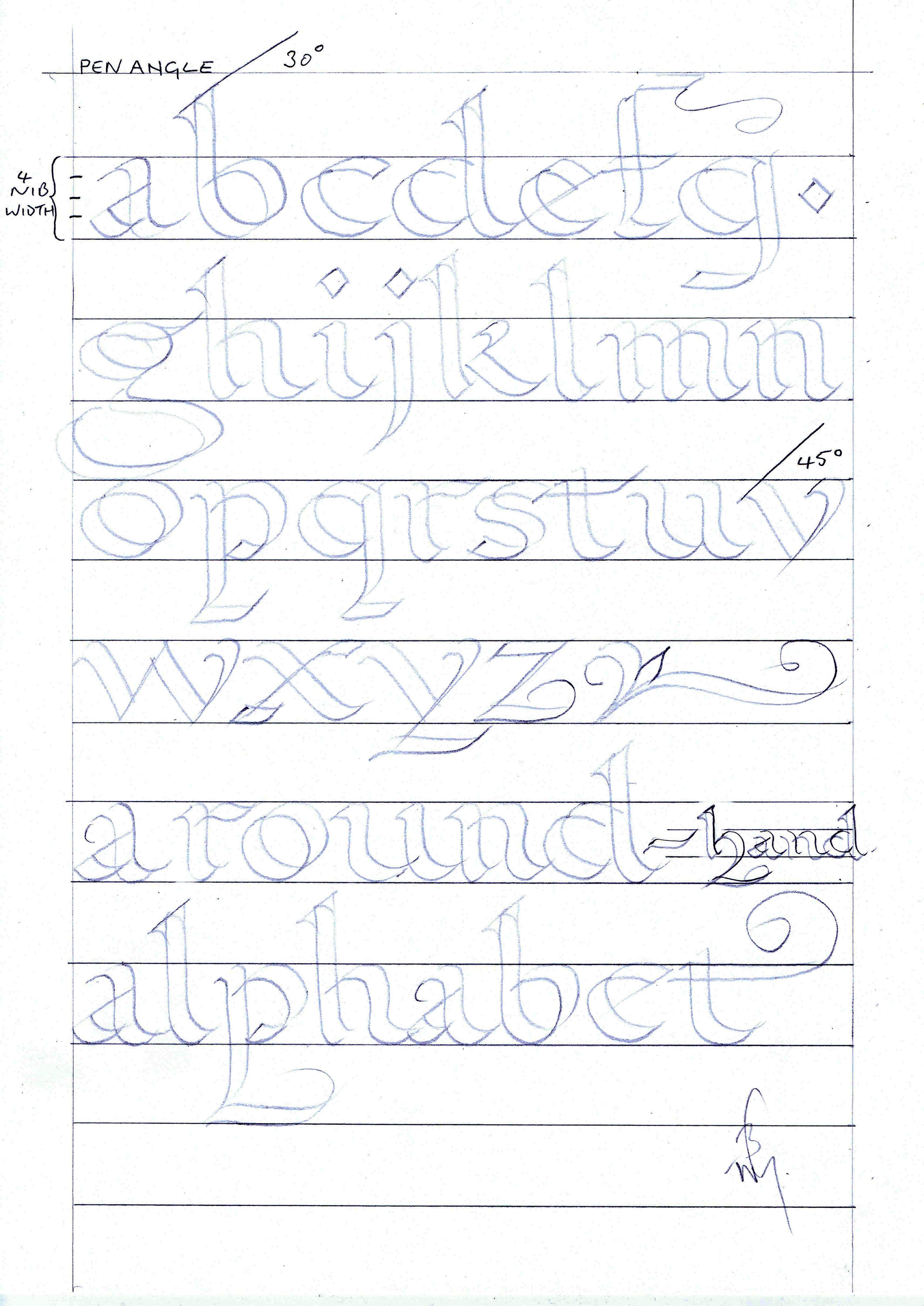 Worksheet Printable Calligraphy Practice Sheets 6 best images of free printable calligraphy alphabet practice sheets beginners