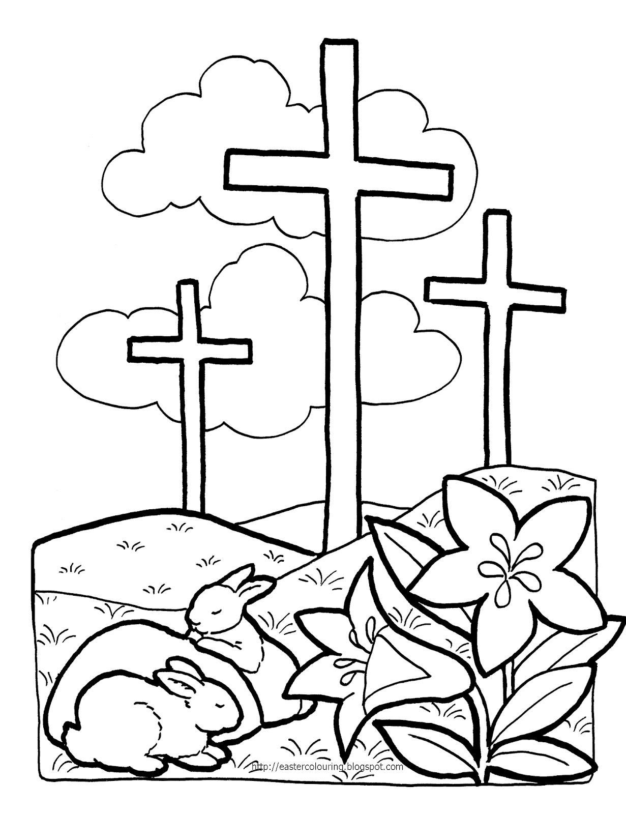 4 Images of Religious Easter Printables