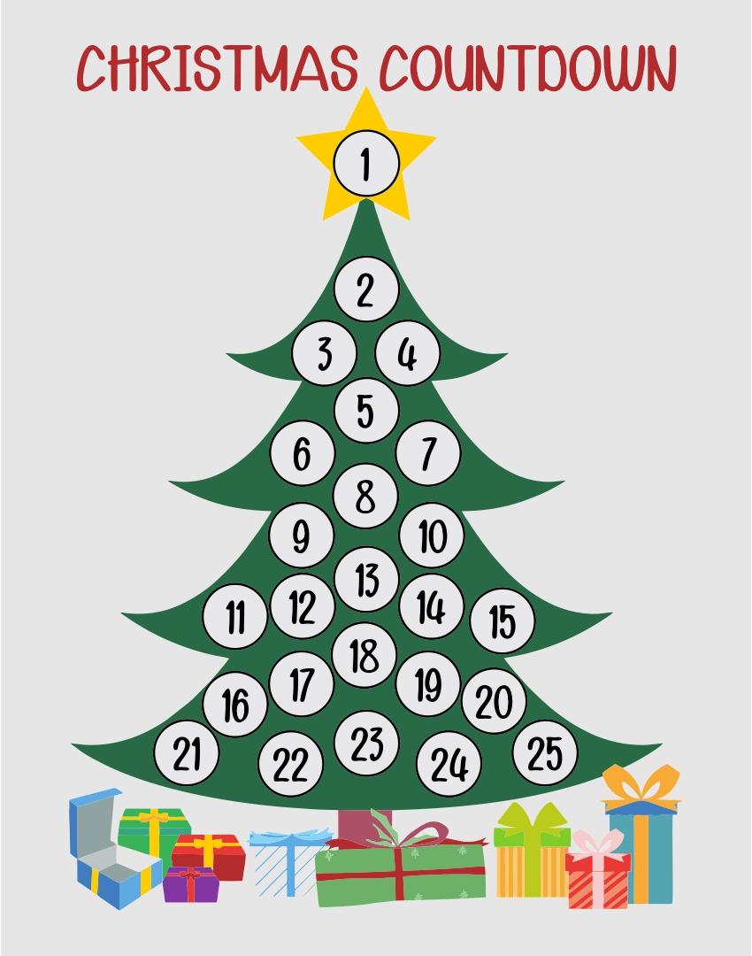 Christmas Book Tree Activity Countdown