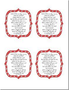 Christmas Candy Cane Poem