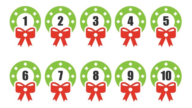 Christmas Numbers 1-20 Printable