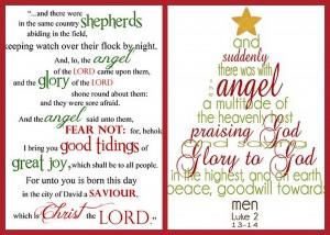Christmas Scripture Word Art