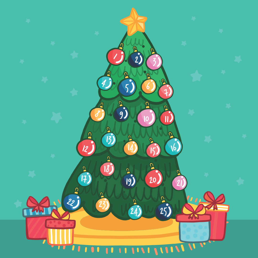 6 Best Images Of Christmas Countdown Tree Printable Free Tree Countdown Coloring Page