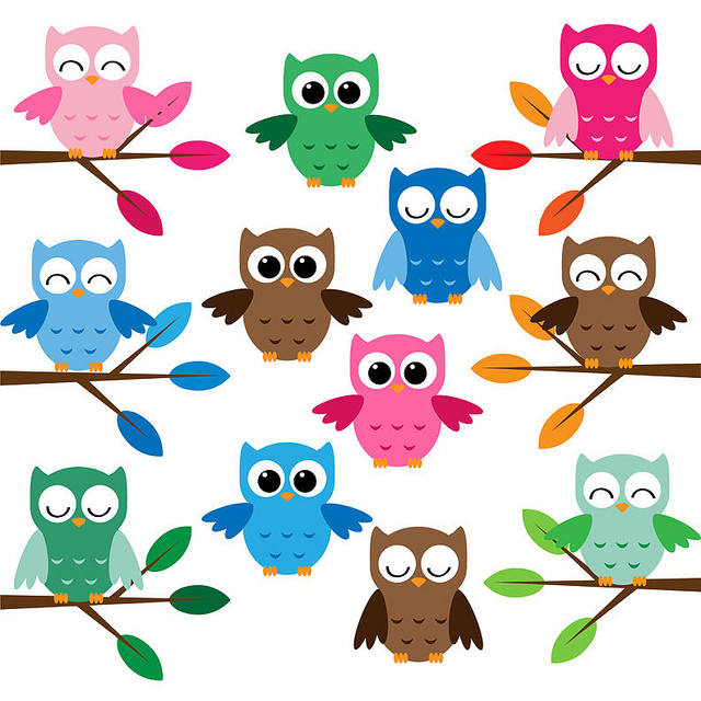 Cute Cartoon Owl Clip Art