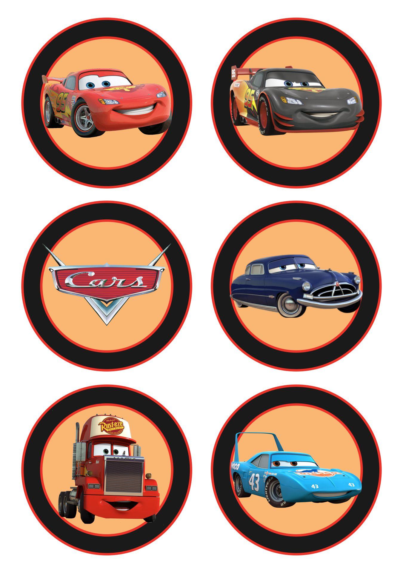 Disney Pixar Cars Cupcake Toppers