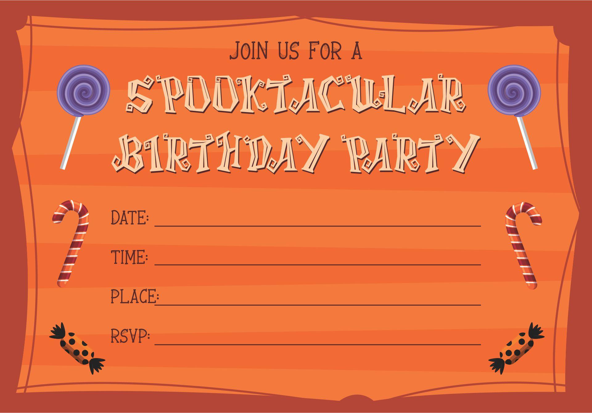 DIY Halloween Birthday Party Invitations