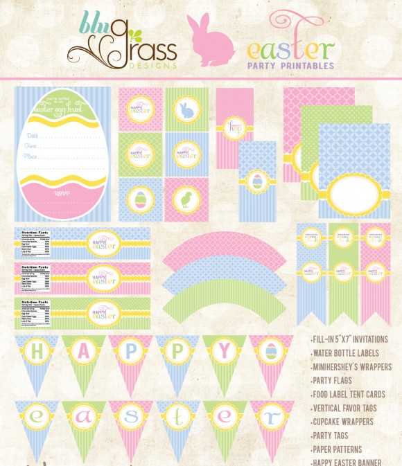 8 Images of Easter Party Free Printables
