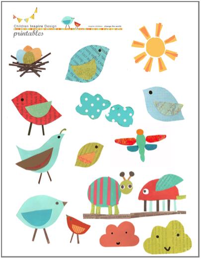 Free Bird Cutouts Printable