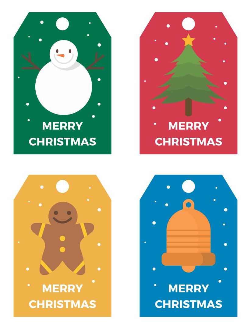 Christmas Printables Gift Tag Card