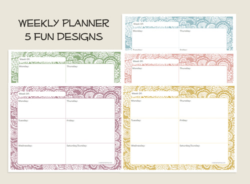 Free Daily Printable Weekly Planner