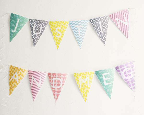5 Images of Free Printable Alphabet Banner Letters Template