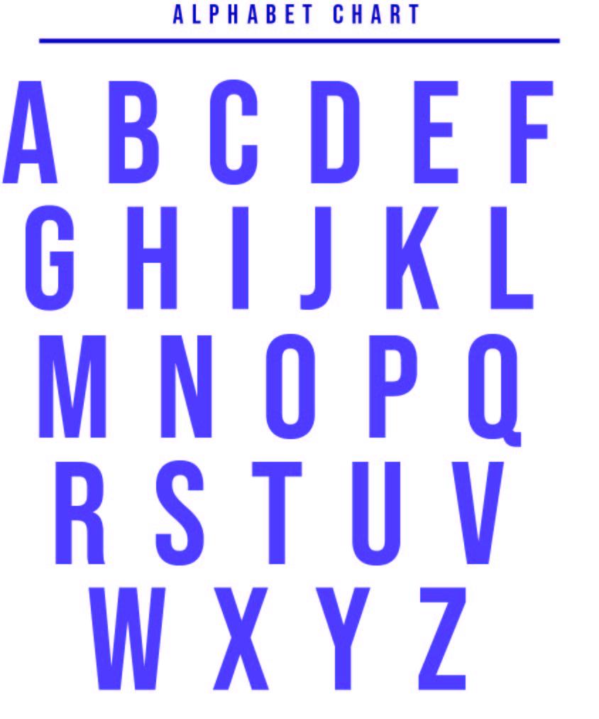 Printable Alphabet Chart PDF