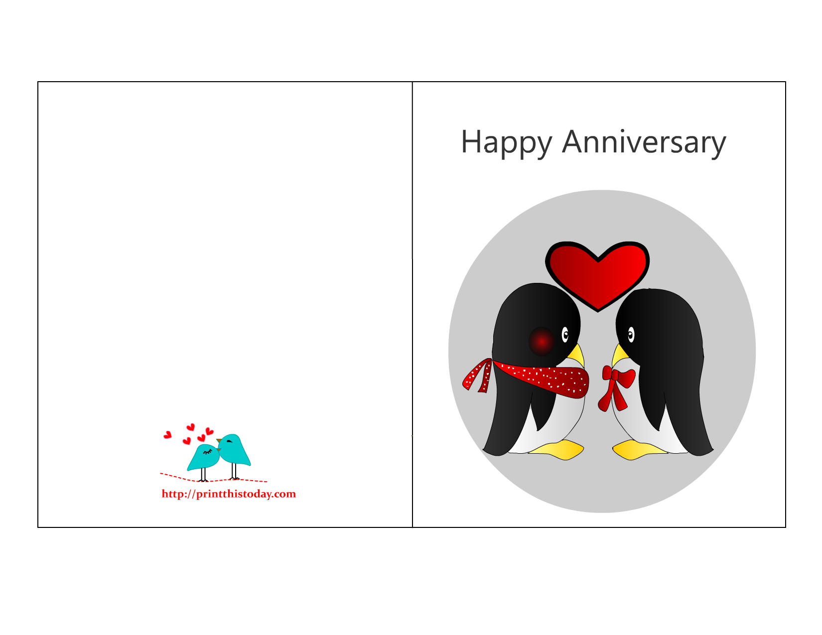 8 Images of Printable Anniversary Cards