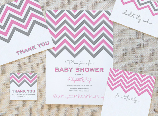 8 Images of Chevron Baby Shower Free Printables