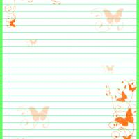 Free Printable Butterfly Stationary