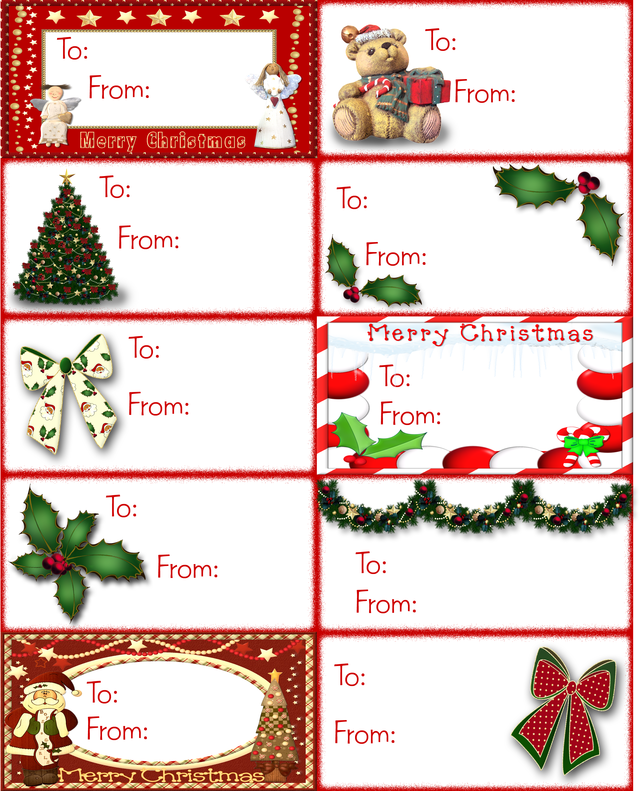 ... Free Printable Christmas Gift Tag Labels & Free Printable Christmas