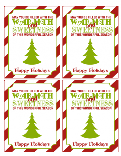 8 Images of Christmas Teacher Gift Printables