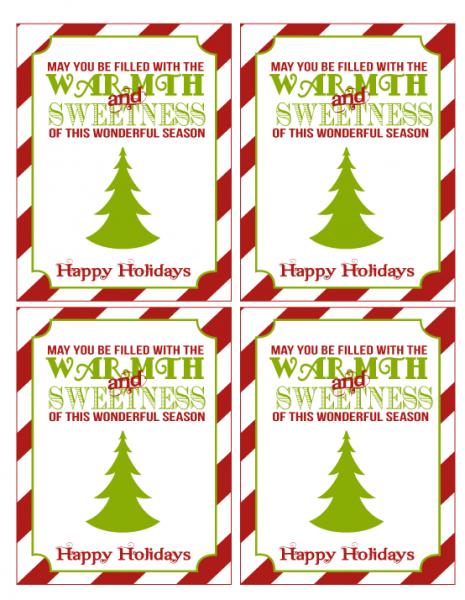 8 Images of Christmas Teacher Gift Printables