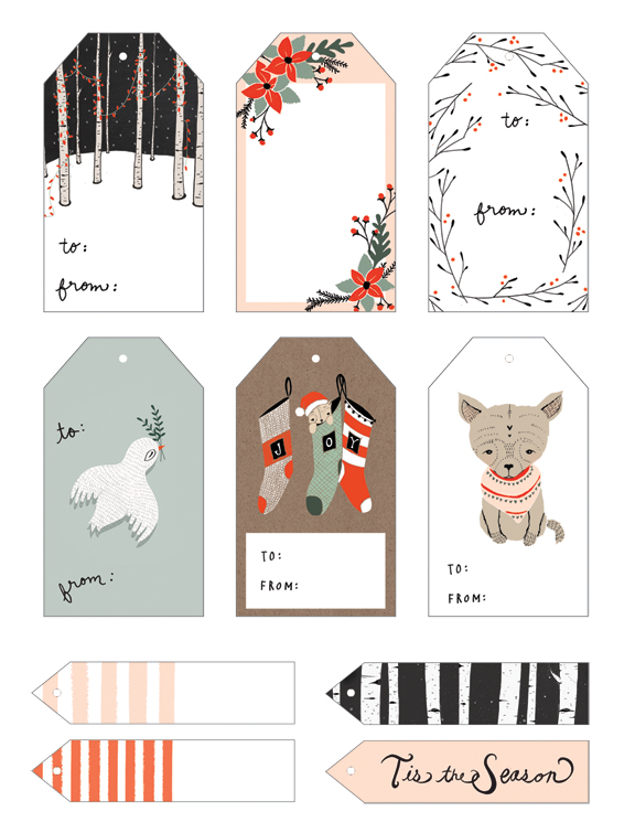 8 Images of Christmas Card Tags Printables