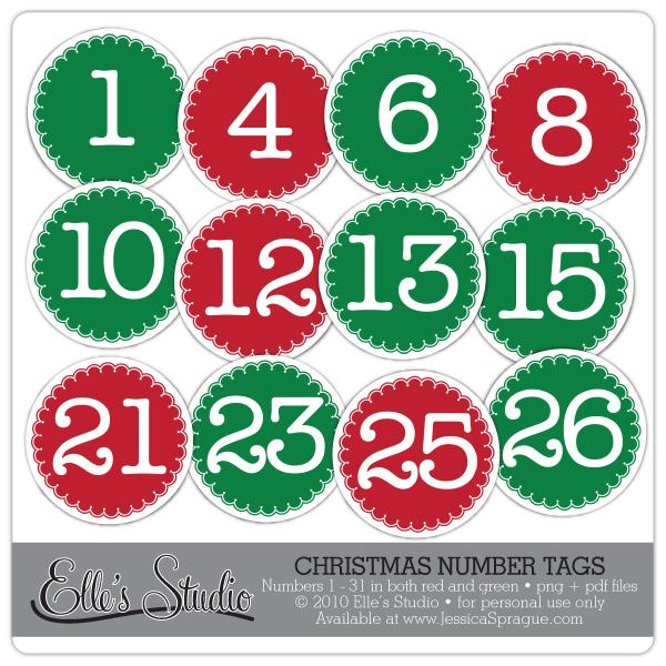 Free Printable Christmas Numbers