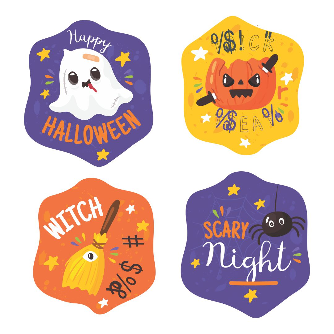 5 Images of Printable Halloween Stickers