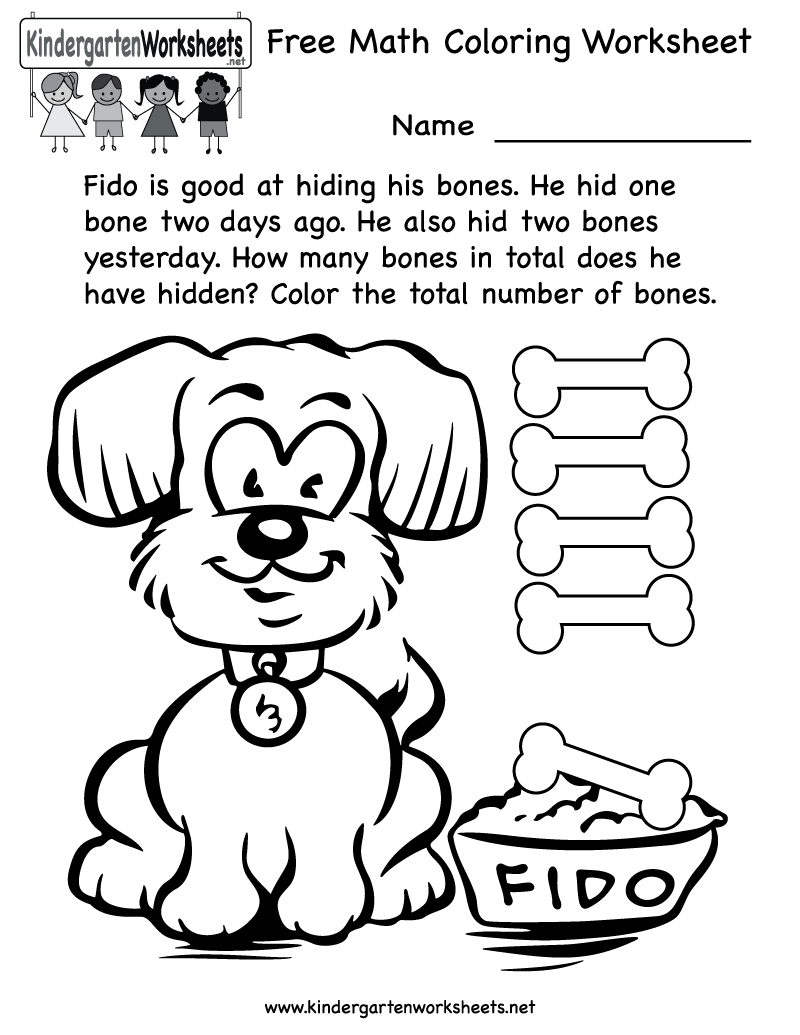 8 Images of Free Printable Kindergarten Coloring Worksheets