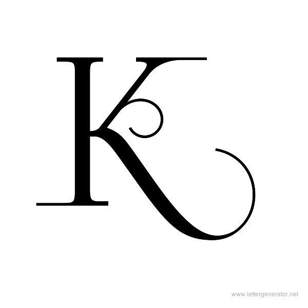 6 Images of Printable Alphabet Letter K